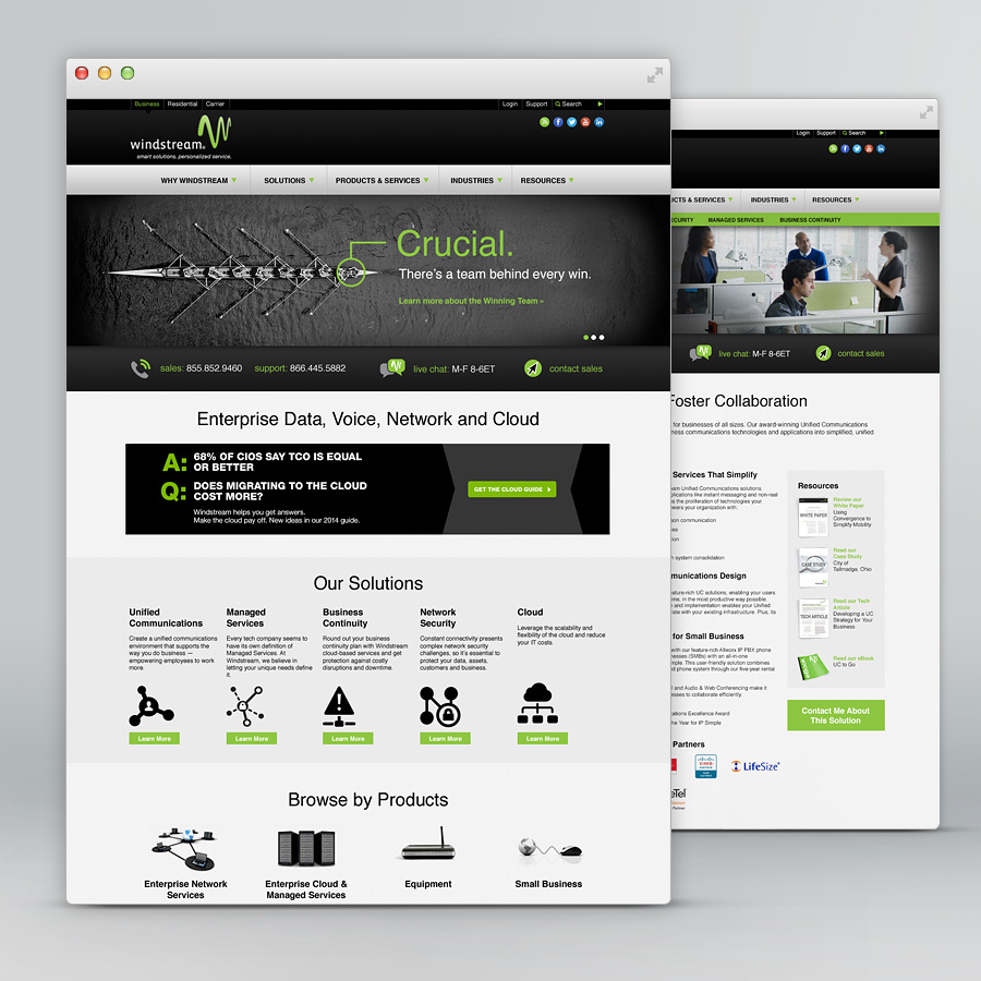 Windstream Landing Page